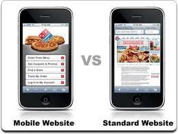 mobile vs std website