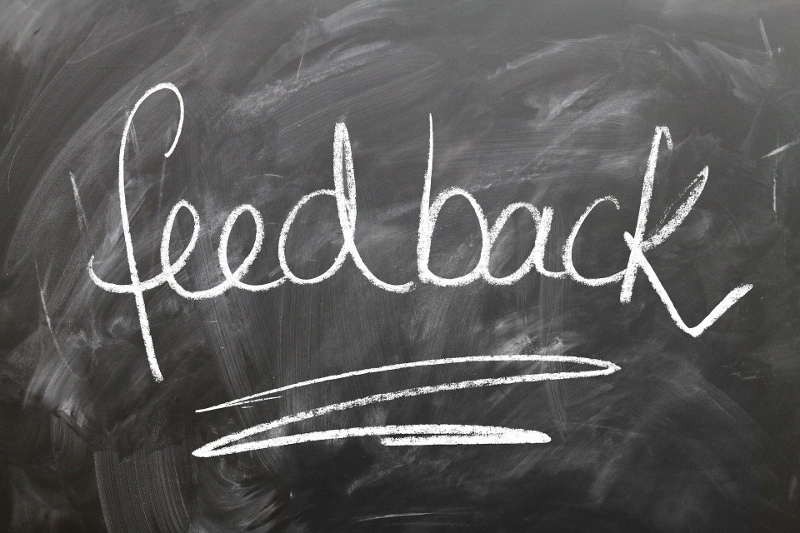 "Chalkboard with ""Feedback"" written on it, online reputation management, VIEWS Digital Marketing"