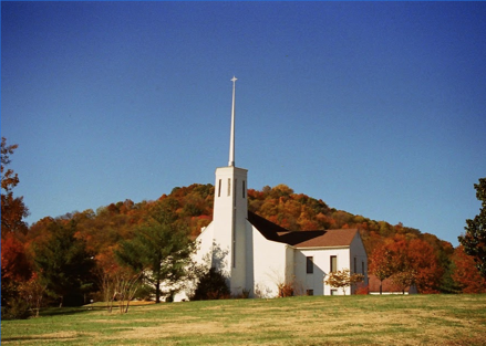 Outside view of Tennessee Church that Maryn Williams helped set up online services since the COVID-19 Crisis caused them to stop in person services | VIEWS Digital Marketing