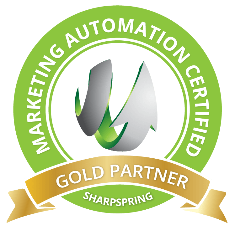 Icon of SharpSpring Gold certification | marketing automation certification | VIEWS Digital Marketing