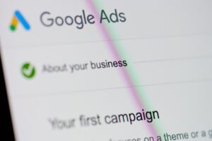 Computer screen with Google Ads menu | State of Paid Online Advertising | VIEWS Digital Marketing