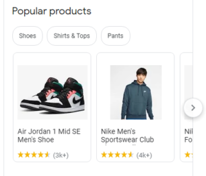 Google My Business profile for Nike, with product reviews   online reviews   VIEWS Digital Marketing